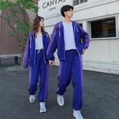 戏花泥春秋季情侣装王一博同款衣服两件套装男女韩版潮流运动外套