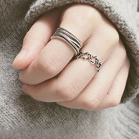 银戒指女宽版