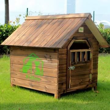 FIBER范博形象卡通包邮实木狗屋室内室外防雨狗窝杉木猫窝宠物屋
