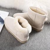 环球2017冬季新款靴子女韩版百搭短筒雪地靴学生加绒棉鞋加厚短靴