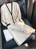 女装 复古小香风套裙韩版 新品 时尚 两件套气质小西装 小小兴2019春装