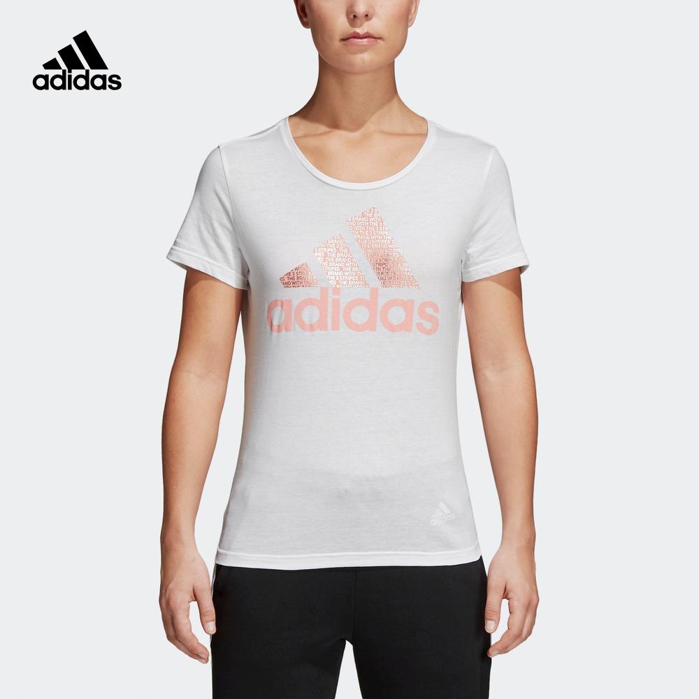 阿迪达斯官网adidas 女装运动型格短袖T恤CV4562 CV4561