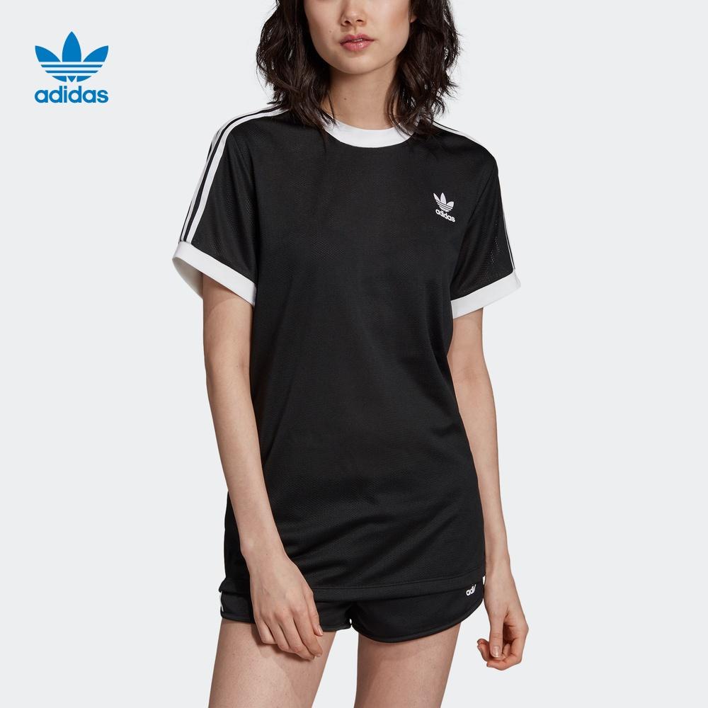 阿迪达斯官网adidas 三叶草女装运动短袖T恤EB6489 EB6488