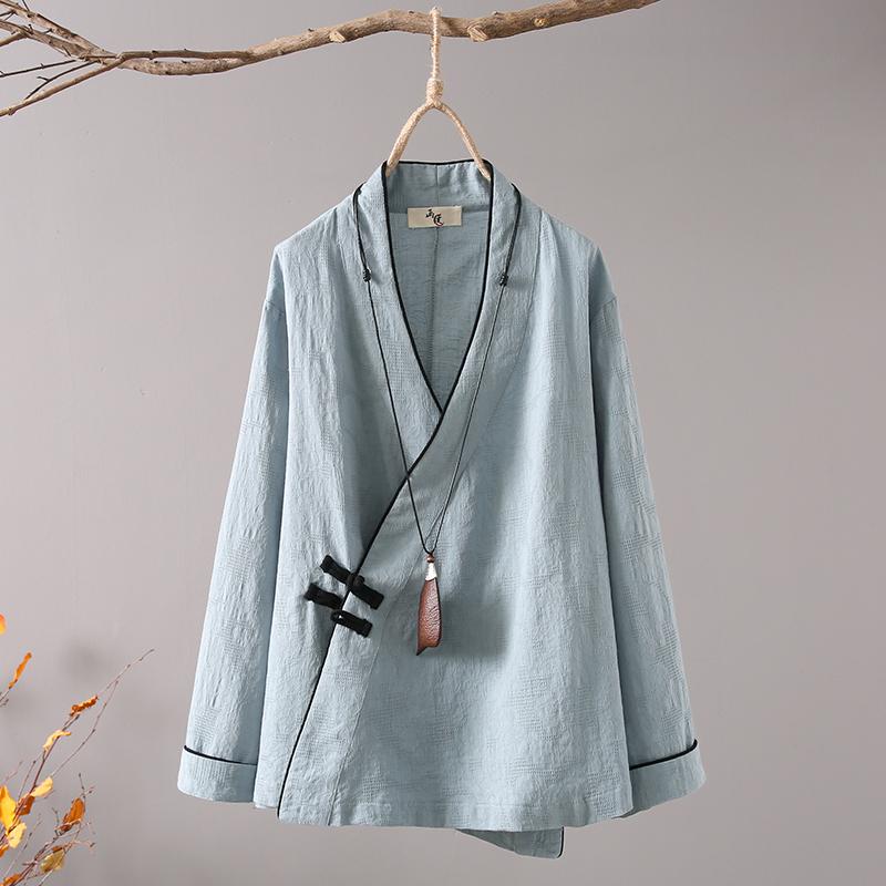 画续 original 2018 new literary wild jacquard cotton linen tea service