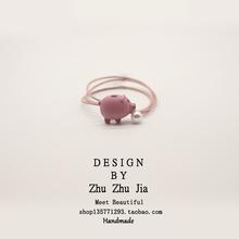 本命猪年发圈红色可爱头绳韩国小清新简约个性发绳橡皮筋手链两用