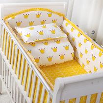 定做纯棉婴儿床围儿童床品宝宝床上用品防撞四面帏四季通用十件套