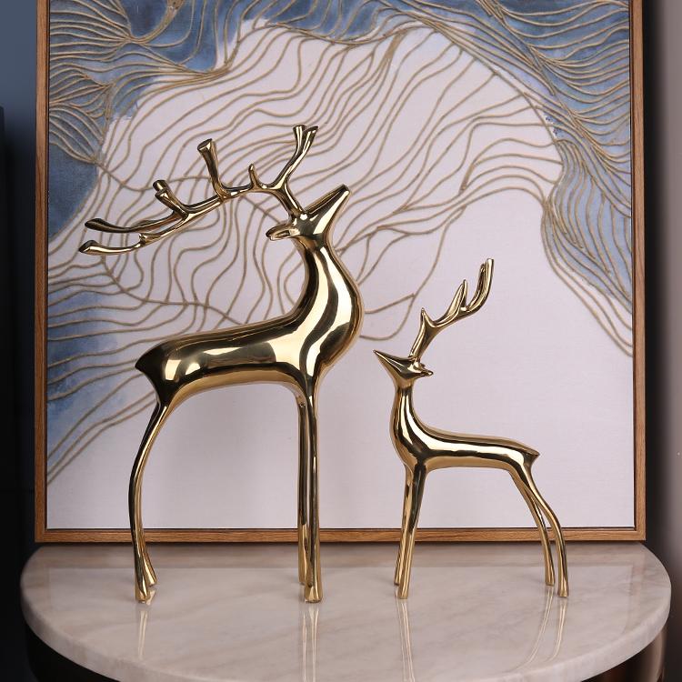纯铜鹿摆件 应用效果