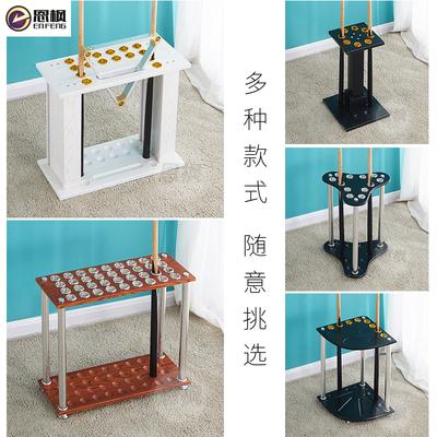 恩枫台桌球房厅用品展示架台球杆架器落地立式壁挂八九球多孔杆架