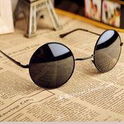 复古圆形墨镜金属镜男女士太阳眼镜亲子款小圆框架结婚伴郎道具