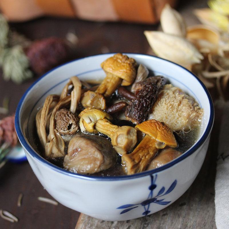 羊肚菌姬松茸杂菌汤 蘑菇菌汤秋冬进补炖汤滋补煲汤料火锅底料