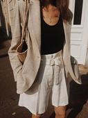 西装 高腰阔腿休闲短裤 外套 IQ品质专柜好货 夏季2019套装 中长款