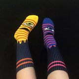 Toy Machine Skateboarding Cotton Jacquard Thickened Long Leg Socks Lin Yuntong Long Socks