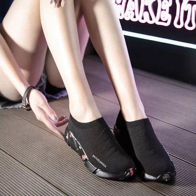 袜子鞋女2019春夏椰子韩版透气显瘦情侣镂空运动鞋网面显脚小女鞋