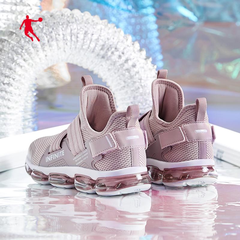 乔丹女鞋运动鞋2019夏季新款透气跑鞋轻便气垫跑步鞋网面休闲鞋女