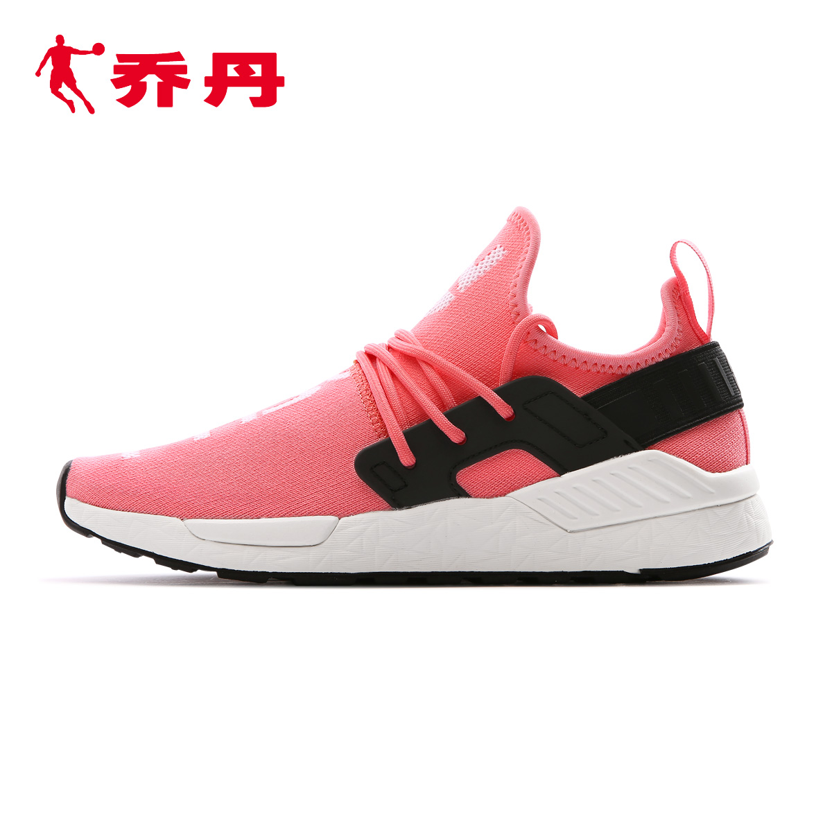 乔丹百尚2018春夏新款运动鞋女针织网面透气休闲跑步鞋