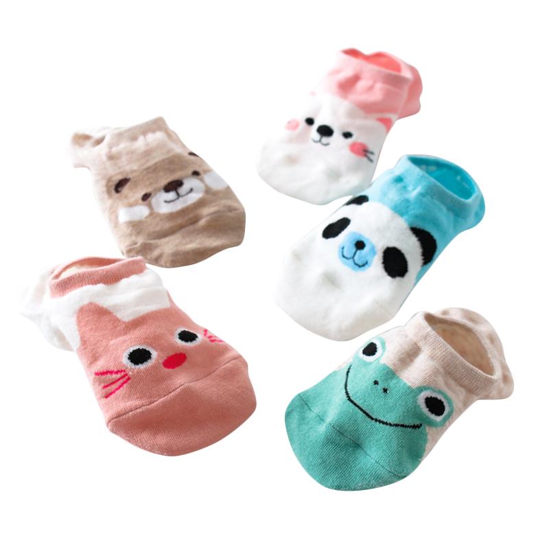 可爱浅口纯棉袜 5双