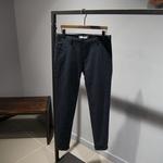 版型牛逼 春夏款 深藍色男士彈力萊卡棉修身收腿休閑褲