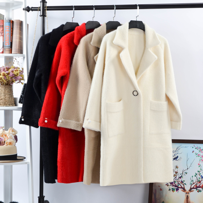 [Photographed 168 yuan, the first 200 pieces] imitation water mane coat coat female