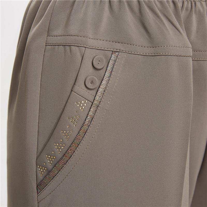 中老年女裤子夏季薄款松紧高腰宽松长裤中年妈妈装夏装大码休闲裤