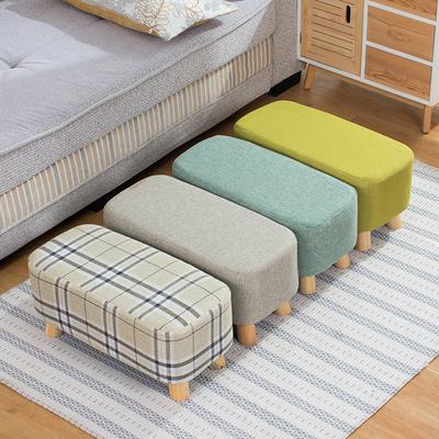 实木布艺换鞋凳创意长凳现代简约穿鞋凳小登子沙发凳长方形休闲凳在哪买