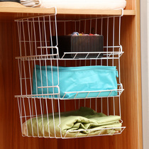 Ourunji Multi-layer overlay under the hanging basket 3 wardrobe and clutter storage rack kitchen bathroom other storage basket