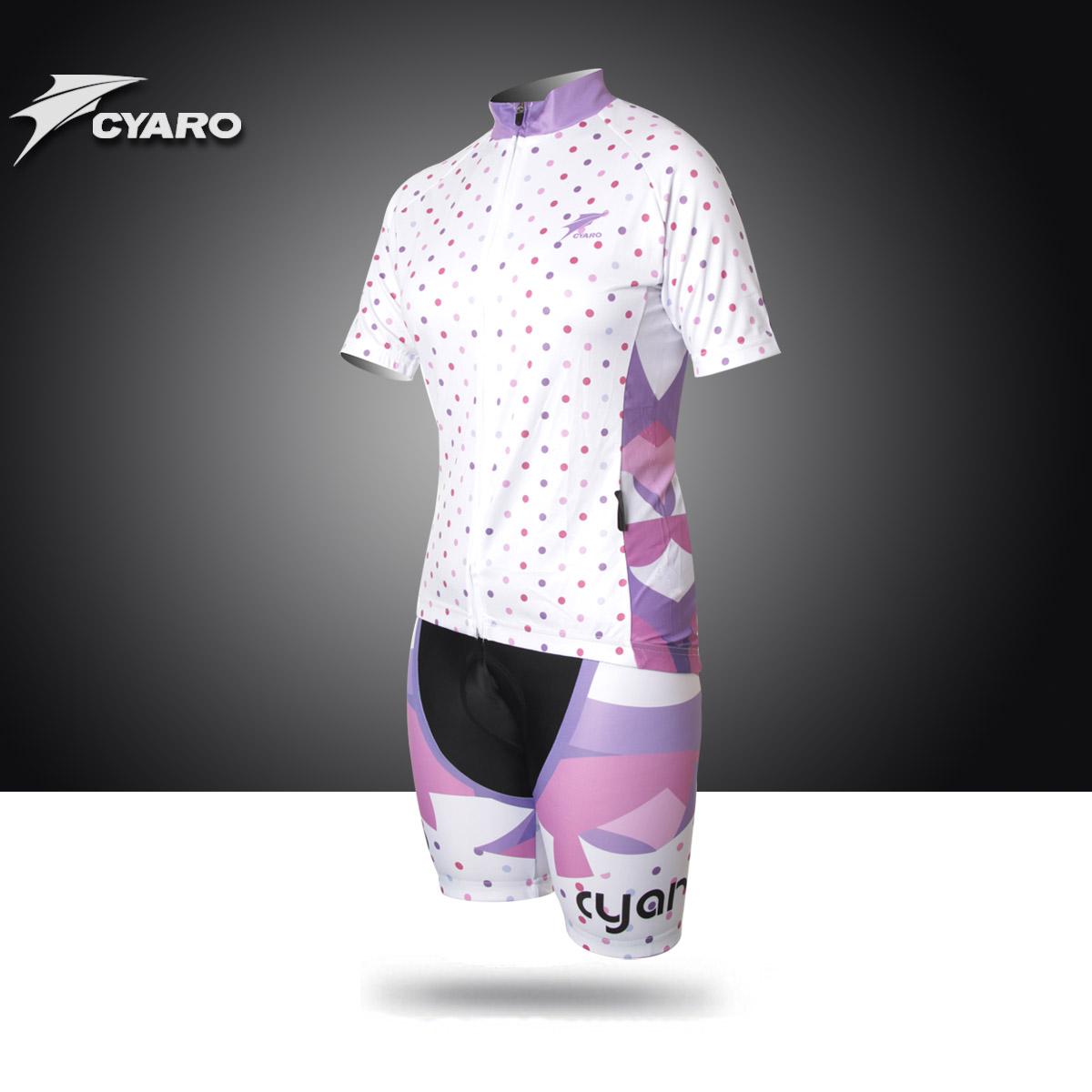 正品CYARO 樱花女 骑行服 短袖套装 夏 单车服 自行车服 上衣短裤