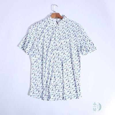 夏威夷休闲风格印花丝光棉衬衫928C2  双丝光棉 男士休闲中年短袖