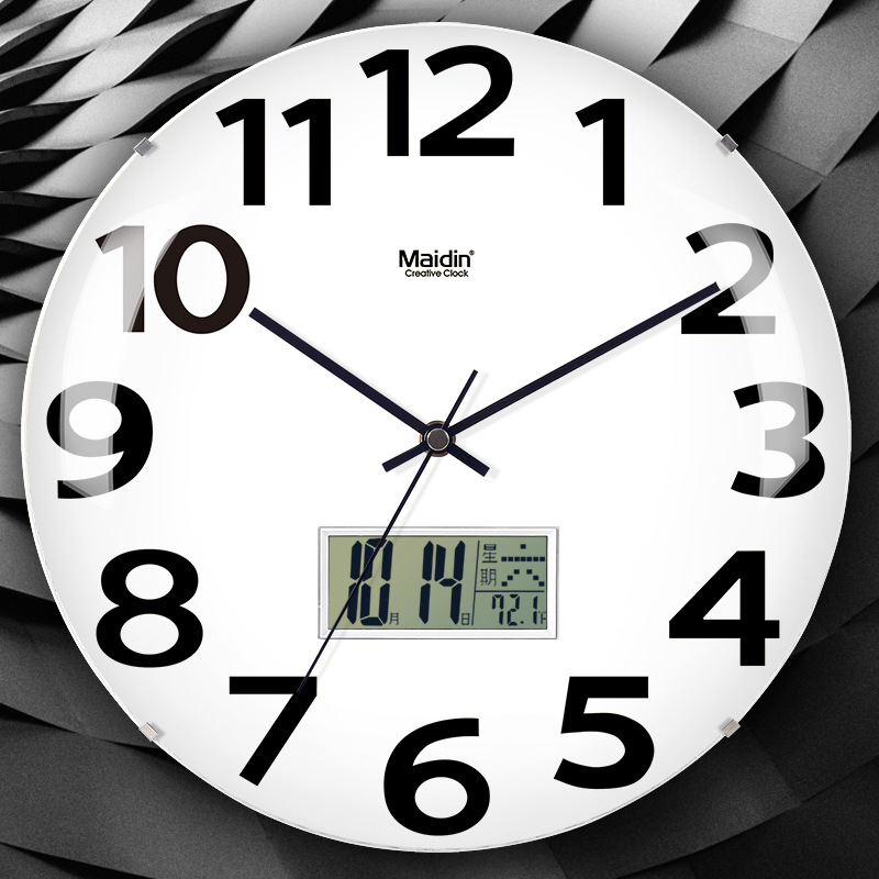 无音钟表挂钟客厅