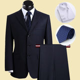 Men's suit middle-aged and elderly suit father business suit business suit the groom's wedding dress is loose and large