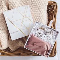 奇居良品 北欧ins节日伴手礼 新婚礼品创意家居丝绒香薰礼盒套装