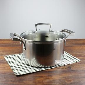 出口英國18/10三層鋼湯鍋304不銹鋼燉鍋一體成型2024cm不粘鍋具
