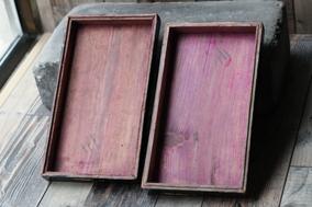清代老物件老的拜帖盒子老漆器老盒子包老包邮实木大漆工艺老手艺