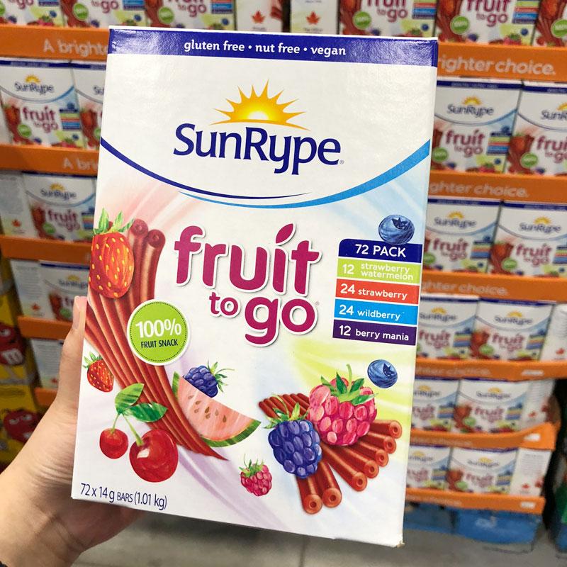 加拿大直邮 Sunrype天然水果条果丹皮水果肉条整盒72条