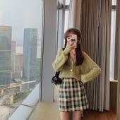 宽松百搭V领针织开衫 女短款 慵懒风外搭毛衣外套 2019秋季新款 韩版图片