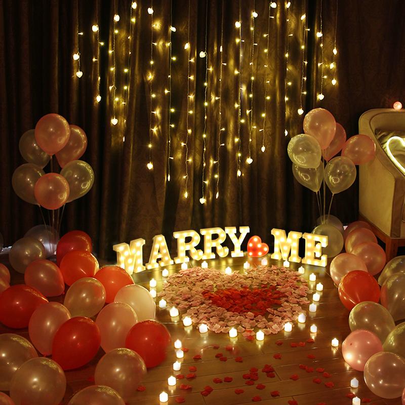 求婚道具场景布置创意用品房间ktv室内室外装饰套餐生日表白神器
