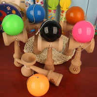 Log lion sword wooden skill ball sword jade sword ball children balance beam junior version color sword ball toy