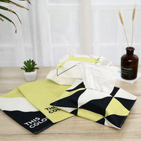 Recommended simple modern yellow black striped fabric paper bag cotton and linen paper towel bag paper towel bag household tissue box