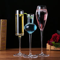 Special offer free lead crystal glass champagne glass red wine glass set cocktail glass goblet