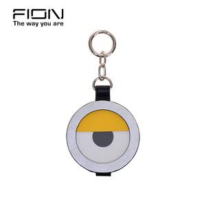 Fion/菲安妮2018新款吊坠 小黄人系列挂饰包包饰品随身镜子化妆镜