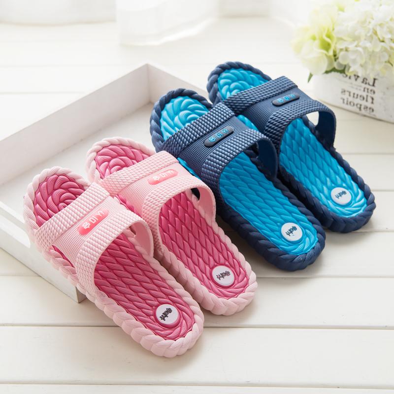 男夏天拖鞋女夏浴室洗澡拖鞋可爱防滑韩国室内学生居家情侣凉拖鞋