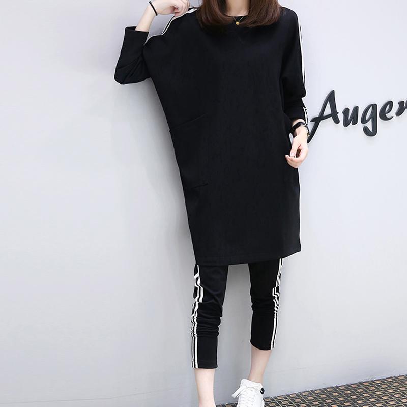 孕妇装套装春秋季2018新款潮妈韩版运动休闲外出两件套卫衣外套