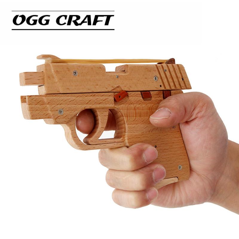 OGG CRAFT simulation bursts back rubber band pistol children
