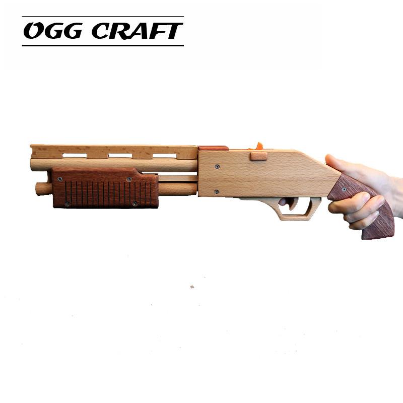 OGG CRAFT simulation burst hair band gun wooden shotgun wood