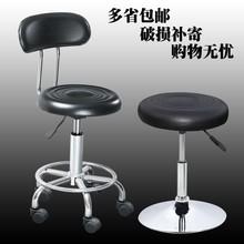 脚钉款防潮时尚结实灰色无扶手转椅电脑椅易清洗可升高40至53cm