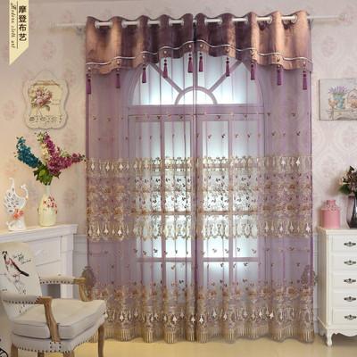 紫色欧式窗帘卧室哪里便宜