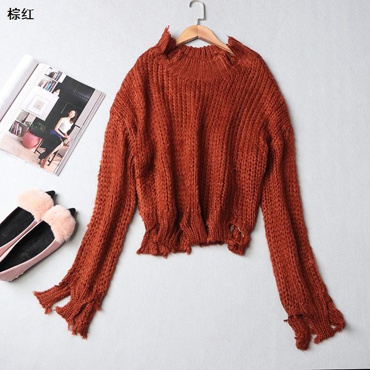 a型长袖毛衣