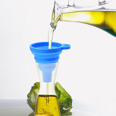 创意硅胶折叠漏斗耐高温伸缩油漏厨房家用便携式液体分装迷你漏斗