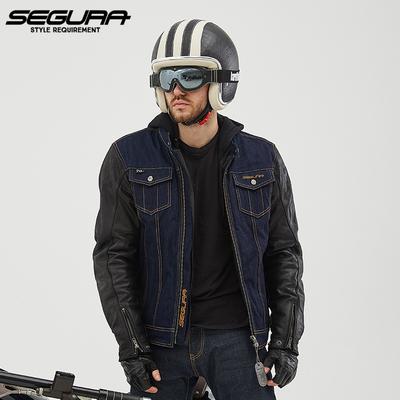 segura摩托车骑行服皮衣夹克男机车服赛车服牛仔衣服四季冬季保暖
