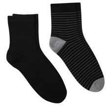 正品真维斯袜子男中筒袜中袜中腰商务袜纯色条纹棉袜男士男装袜