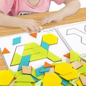 七巧板智力开发拼图儿童益智玩具幼儿园创意女孩男孩3-4-6-7-8岁9